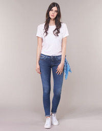 Clothing Women Skinny jeans Replay LUZ ZIP Blue / 009