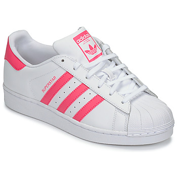 Shoes Girl Low top trainers adidas Originals SUPERSTAR J White