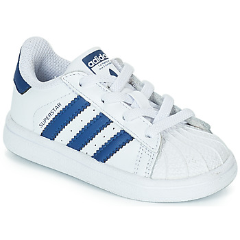 Shoes Children Low top trainers adidas Originals SUPERSTAR EL White / Blue
