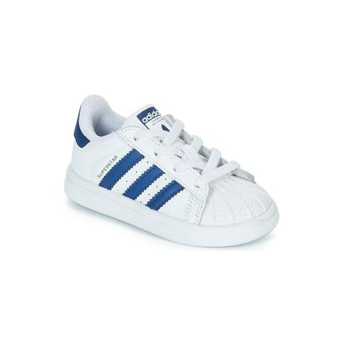 Shoes Children Low top trainers adidas Originals SUPERSTAR EL White / Blue