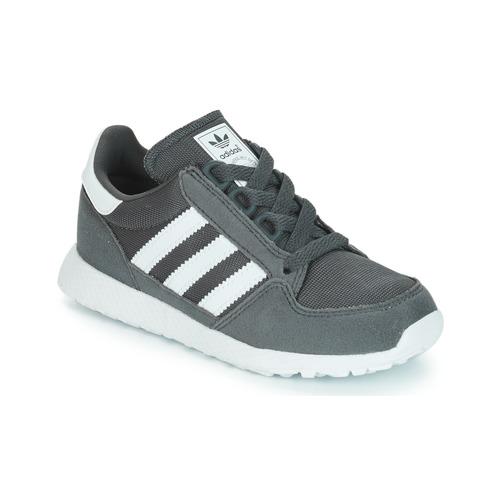 Shoes Children Low top trainers adidas Originals OREGON Grey