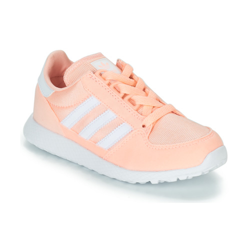 Shoes Girl Low top trainers adidas Originals OREGON Pink