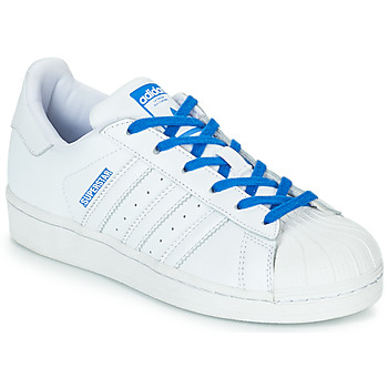 Shoes Girl Low top trainers adidas Originals SUPERSTAR J White / Blue