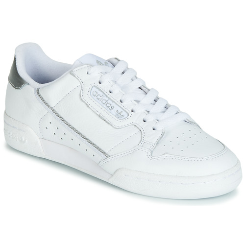 Shoes Women Low top trainers adidas Originals CONTINENTAL 80s White / Silver