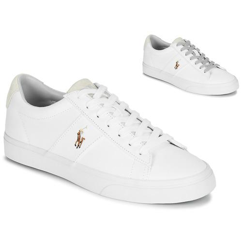 Shoes Men Low top trainers Polo Ralph Lauren SAYER White