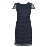 Clothing Women Short Dresses Lauren Ralph Lauren NAVY SHORT SLEEVE DAY DRESS Marine