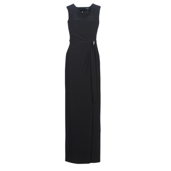 Clothing Women Long Dresses Lauren Ralph Lauren CAP SLEEVE JERSEY EVENING DRESS Black