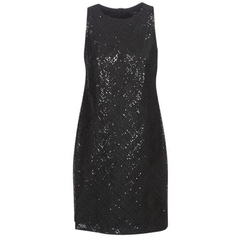 Clothing Women Short Dresses Lauren Ralph Lauren SEQUINED SLEEVELESS DRESS Black