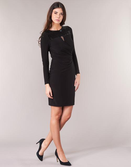 Lauren Ralph Lauren SEQUINED YOKE JERSEY DRESS