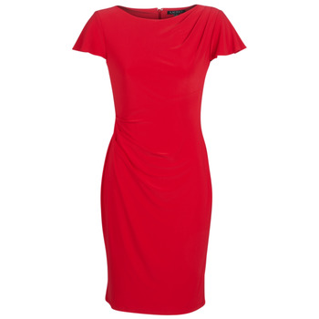 Clothing Women Short Dresses Lauren Ralph Lauren SHORT SLEEVE JERSEY DAY DRESS Red