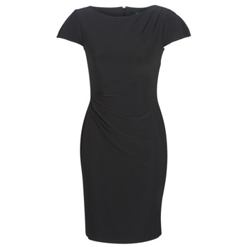 Clothing Women Short Dresses Lauren Ralph Lauren SHORT SLEEVE JERSEY DAY DRESS Black