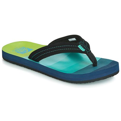 Shoes Boy Flip flops Reef KIDS AHI Blue / Green