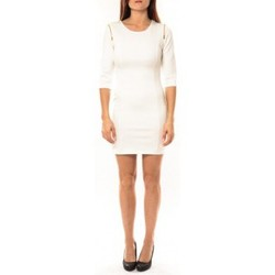 Clothing Women Short Dresses Vera & Lucy Robe Lucce LC-0228 Blanc White