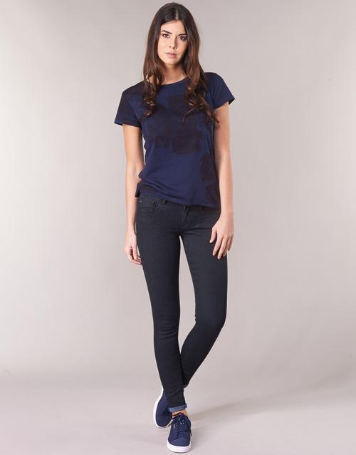 Clothing Women Skinny jeans G-Star Raw LYNN D-MID SUPER SKINNY Blue / Rinsed