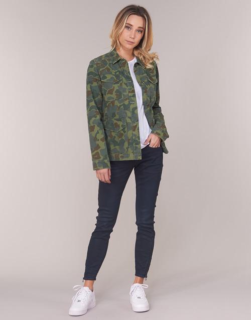 Clothing Women Skinny jeans G-Star Raw LYNN ZIP MID SKINNY ANKLE Blue / Dark / Aged / Cobler