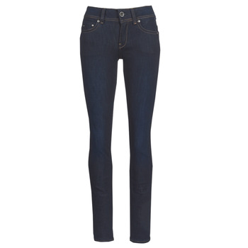 Clothing Women straight jeans G-Star Raw MIDGE SADDLE MID STRAIGHT Blue / Dark / Aged