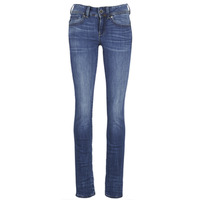 Clothing Women Straight jeans G-Star Raw MIDGE SADDLE MID STRAIGHT Blue / Medium / Indigo / Aged