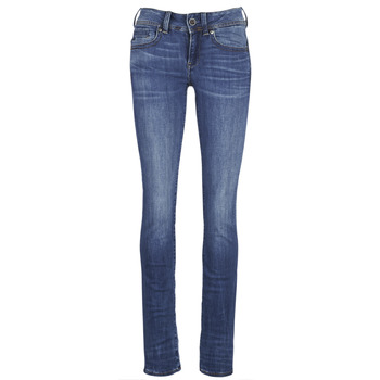 Clothing Women Straight jeans G-Star Raw MIDGE SADDLE MID STRAIGHT Blue
