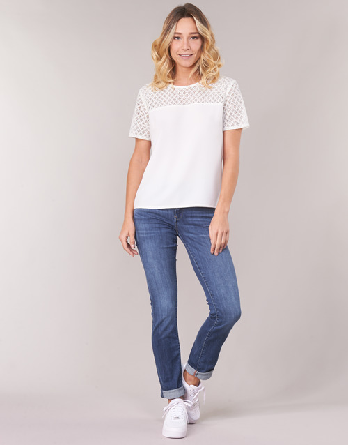 Clothing Women Straight jeans G-Star Raw MIDGE SADDLE MID STRAIGHT Blue / Medium / Indigo / Aged