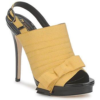 Shoes Women Sandals Jerome C. Rousseau ROXY Yellow / Black