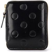 Bags Women Wallets Comme Des Garcons black shiny printed leather wallet Black