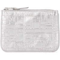 Bags Women Pouches / Clutches Comme Des Garcons silver printed leather purse Silver
