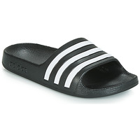 Shoes Children Tap-dancing adidas Originals ADILETTE AQUA K Black / White