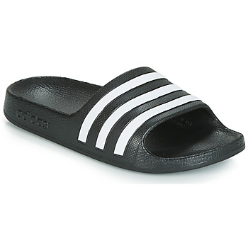 Shoes Children Sliders adidas Performance ADILETTE AQUA K Black / White