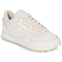 Shoes Women Low top trainers Reebok Classic CL LTHR White / Glitter
