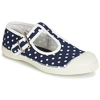 Shoes Girl Flat shoes Bensimon TENNIS SALOME POIS Marine