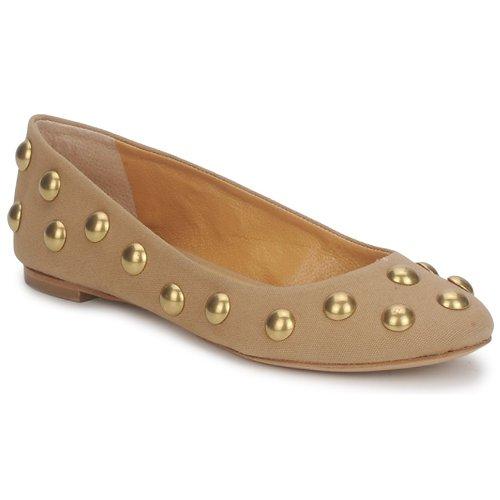 Shoes Women Flat shoes Keyté CANDY TESSU Beige