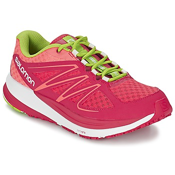 Shoes Women Running shoes Salomon SENSE PULSE WOMAN Orange / Pink / Green