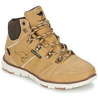 Shoes Boy Mid boots Kangaroos BLUERUN 2098 Beige