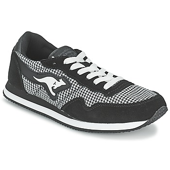 Shoes Women Low top trainers Kangaroos INVADER TWEED Grey / Black