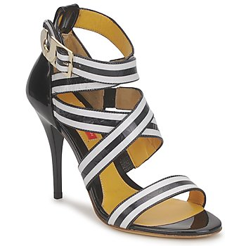 Shoes Women Sandals Charles Jourdan BARBARA Black / White