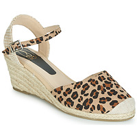Shoes Women Sandals Spot on F2274 Leopard