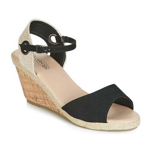 Shoes Women Sandals Spot on F2265 Black