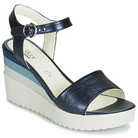 Shoes Women Sandals Stonefly ELY 7 LAMINATED LTH Blue