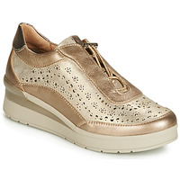 Shoes Women Low top trainers Stonefly CREAM 15 LAMINATED LTH Gold
