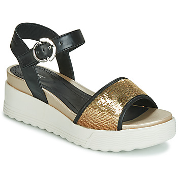 8916f9fb2 Shoes Women Sandals Stonefly PARKY 3 NAPPA PAILETTES Black