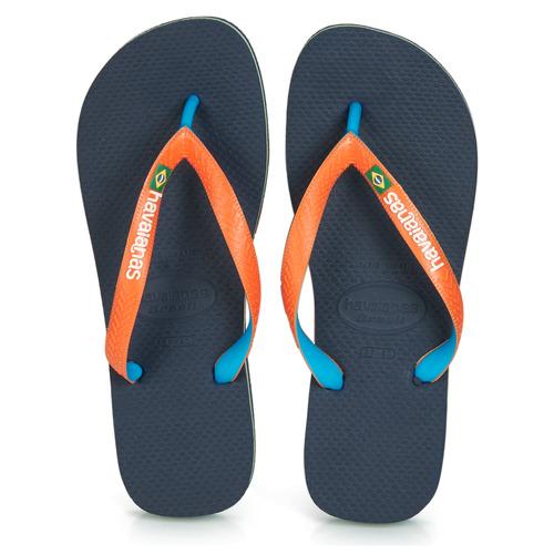 Shoes Flip flops Havaianas BRASIL MIX Marine / Orange