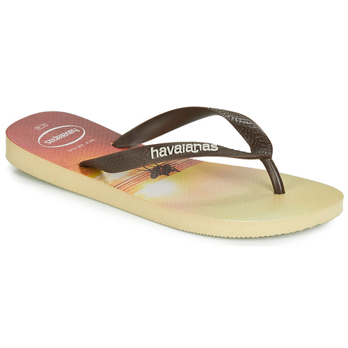 Shoes Men Flip flops Havaianas HYPE Beige / Brown