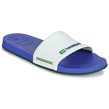 Shoes Men Sliders Havaianas SLIDE BRASIL Marine / White