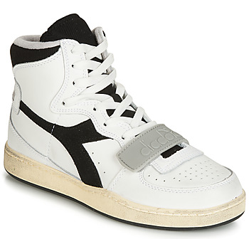 Shoes Hi top trainers Diadora MI BASKET USED White / Black