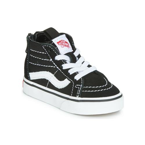Shoes Children Hi top trainers Vans SK8-HI ZIP Black / White