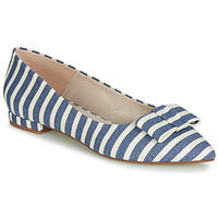 Shoes Women Flat shoes Fericelli JILONOU Blue / White