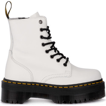 Shoes Women Mid boots Dr Martens Jadon white leather ankle boots with maxi sole White