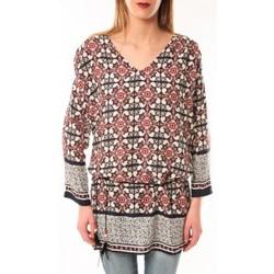 Clothing Women Long sleeved tee-shirts De Fil En Aiguille Robe Noémie & Co E1403-37 Noir/Rouge Black