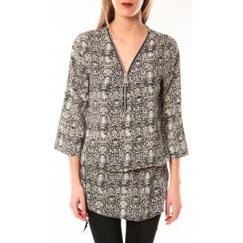 Clothing Women Dresses De Fil En Aiguille Robe Noémie & Co E1485-13 Noir/Blanc Black