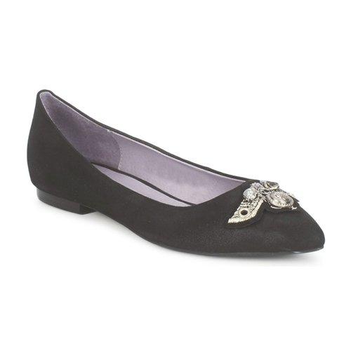 Shoes Women Flat shoes Couleur Pourpre TIMEA Black